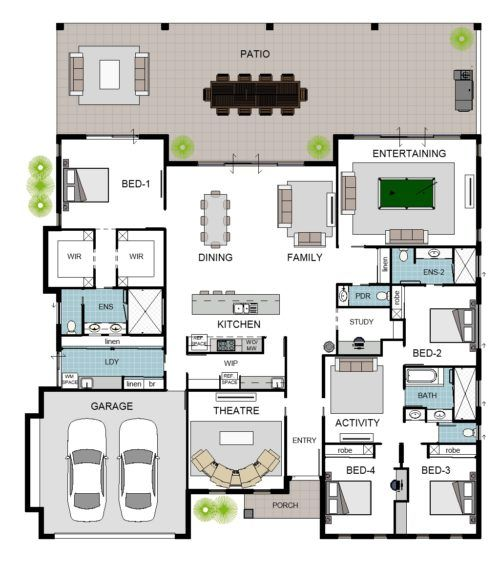 Floor Plan Friday Big Family Home In 2020 Family House Plans Dream House Plans Best House Plans