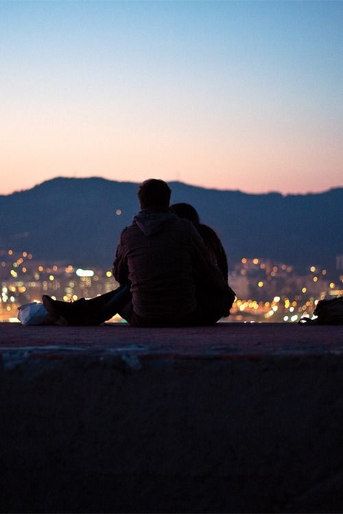 we were looking down at the city lights, feeling lost and infinite: