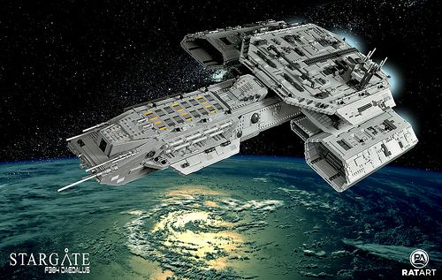 Huge Lego Daedalus From Stargate Who Needs Spaceships When