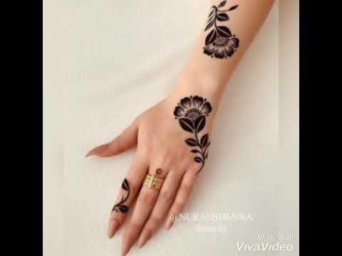 فنون نقش الحناء Youtube Henna Hand Tattoo Hand Henna Hand Tattoos