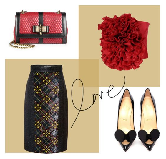 """Love"" by engleann ❤ liked on Polyvore featuring moda, Mary Katrantzou, Dsquared2 e Christian Louboutin"