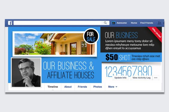 RealEstate Facebook Timeline Cover  by Business Flyers on @creativemarket