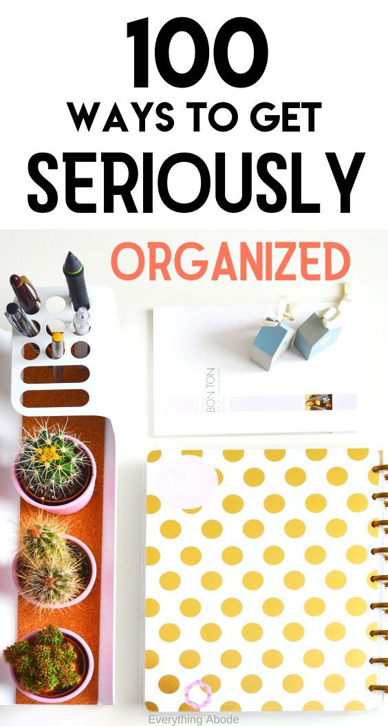 The 5 Step Process To Get Organized At Work Getting Organized Organization Life Organization