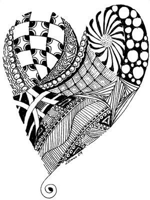doodle heart coloring page zentangle coloring pages 4277