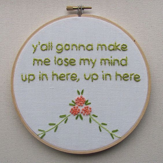 Embroidered Rap Lyrics: Party Up by DMX from nodiggitynodoubt