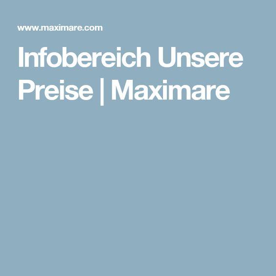 Infobereich Unsere Preise | Maximare
