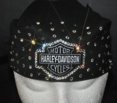 Love this Harley Davidson bling bandana! The Devas Bling has lots of cool bling biker stuff on their site.