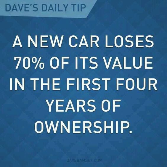 Why Not To Buy A New Car Dave Ramsey
