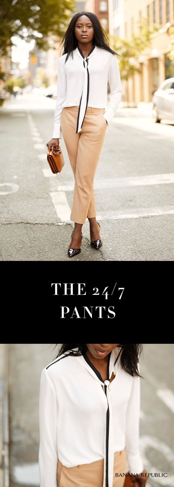 Take your suit pants and wear them your way. With the jacket or solo with a super chic tie-front blouse & heels. Works for work but the options go well beyond 9-5. Travels well, loves a date night & works with sneakers all weekend. These pants have legs.