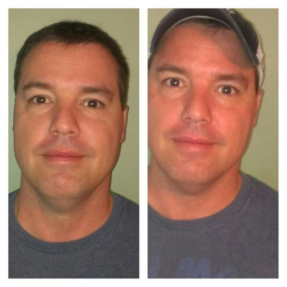 Before and after the greens mask!
