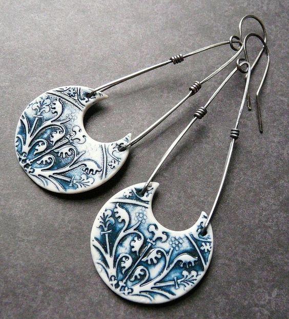 Athena Earrings - Porcelain & Sterling | Flickr - Photo Sharing!