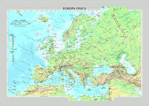 Immagini Cartina Fisica Europa.Europa Fisica E Politica Carta Murale Libro Kindle Pdf