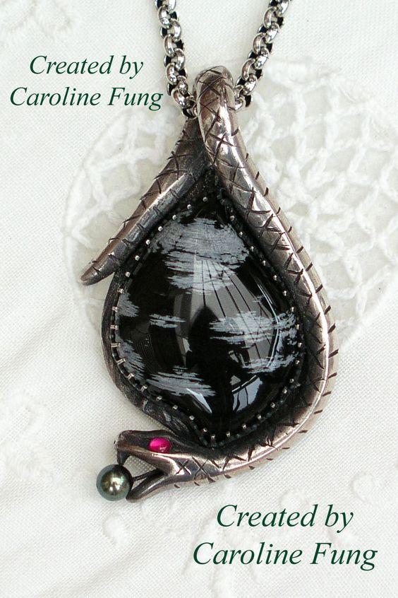 Caroline Fung: A few silver clay pendants