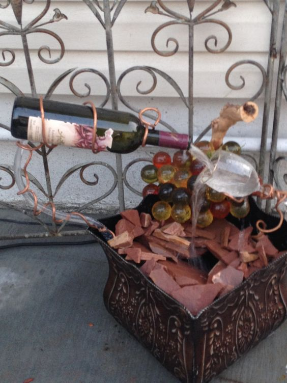 Bottle the o 39 jays and wine bottle fountain on pinterest for Wine bottle fountain