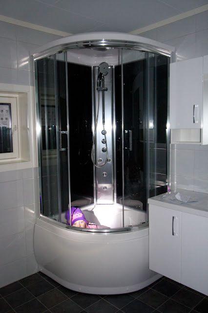 Sittebadekar med dusj