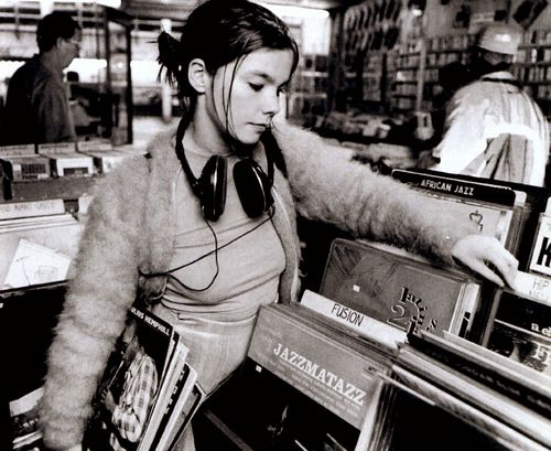 Musicians Hanging Out in Records Stores