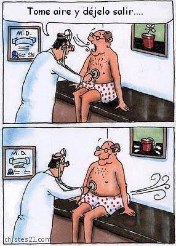 Reconocimiento médico embarazoso. Más en http://www.lasfotosmasgraciosas.com/medicos.html