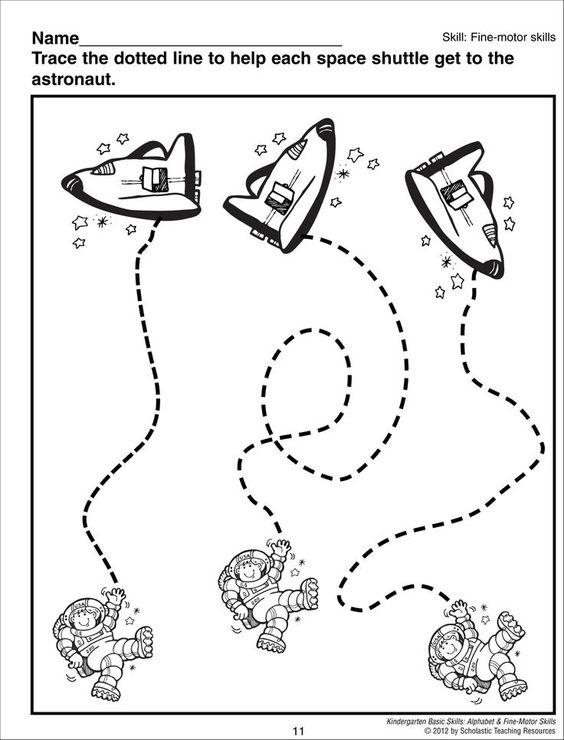 astronaut trace worksheet | space | Pinterest | Astronauts, Solar ...
