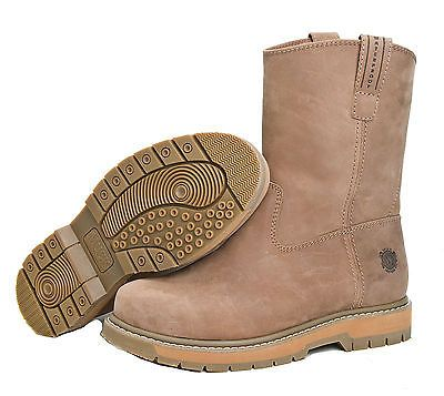 Muck LTH-904W Men's Wellie Classic Leather Wide Work Boots Brown ...