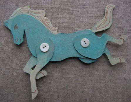Cardboard horses #tutorial #crafts: