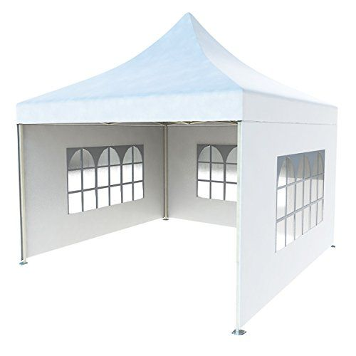 Crinex 10ft X 10ft White Pop Up Portable Shade Instant Folding Outdoor Gazebo Canopy Tent With 3 Removable Side Walls Review Gazebo Canopy Canopy Tent Portable Shade