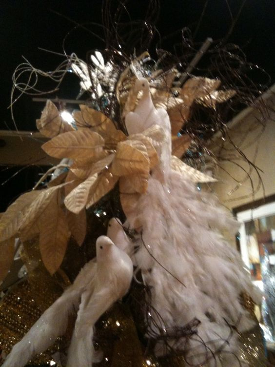 bird christmas tree ornaments feathers for centerpieces