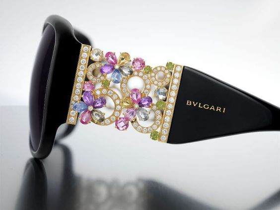 La Gemme sunglasses by Bulgari.  Only 10 pairs in the world!