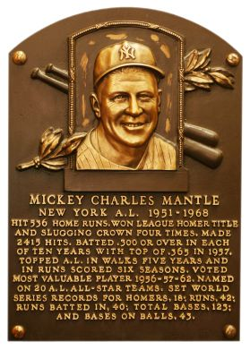 Mickey Mantle was a star from the start, parlaying a talent for the game and boyish good looks into iconic status. In spite of a series of devastating injuries, Mantle accumulated a long list of impressive accomplishments, finishing his 18-year career with 536 home runs and a .298 batting average. The switch-hitting Commerce Comet won three MVP Awards (1956, '57, '62) and a Triple Crown (1956). He contributed to 12 pennants and seven World Series titles in his first 14 seasons while…