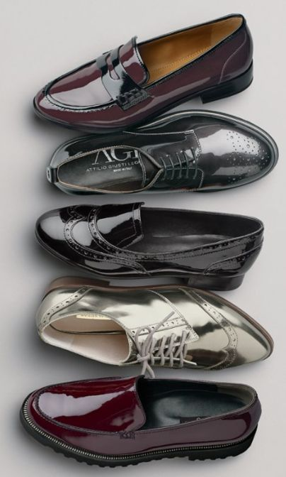 shiny loafers and oxfords