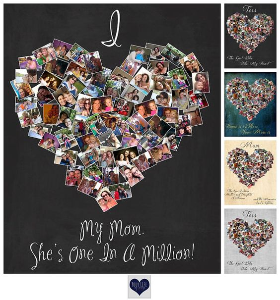 Mother's Day Gift, Personalized Photo Collage, Mother of the Bride, Mom Birthday Gift - Mother's Day - Gift for Mom: