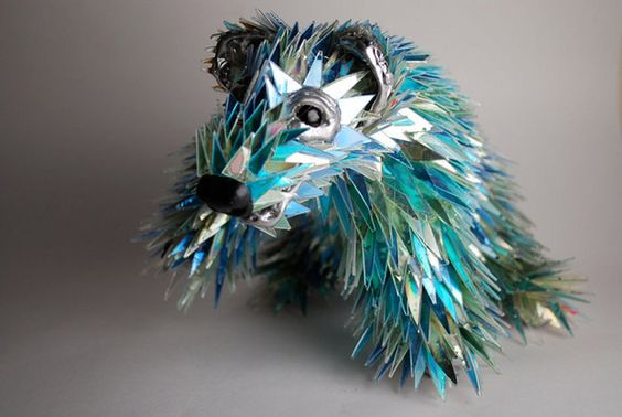 Bear Made Out Of BrokenCDs.