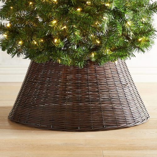 28 Woven Brown Tree Collar Tree Collar Christmas Tree Base Beautiful Christmas Trees