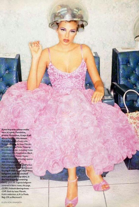 #vintage Bridget Hall in Isaac Mizrahi darlings for #Vogue UK 1995