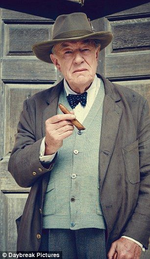 Transformation: Sir Michael Gambon bears a strong resemblance to Prime Minister Winston Churchill in the first look images from upcoming ITV drama, Churchill's Secret