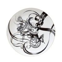 Swirly Plate Bling d'or Bunny