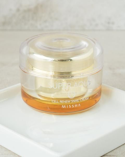 Missha Super Aqua Cell Renew Snail Cream Snail Cream Skin Cleanser Products Missha