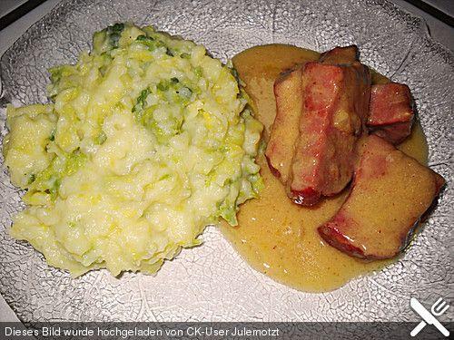 Kasseler in Honig - Senf - Sahne mit Wirsingkartoffeln