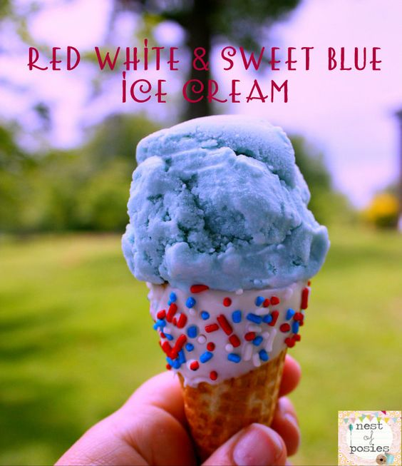 Nest of Posies: Red White & Sweet Blue Ice Cream