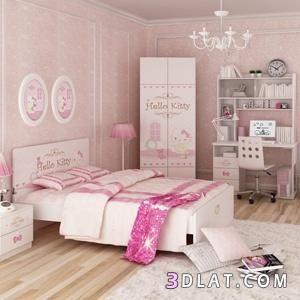 بالصور بنات بينك جميله ديكورات صور غرف للبنات نوم Girls Room Wallpaper Girls Room Design Home Decor
