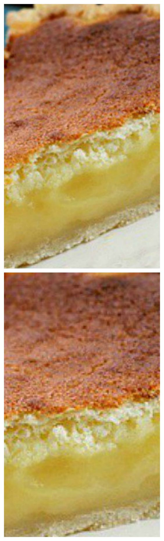 Lemon Sponge Pie ~ While baking, the pie separates into two layers, a soft topping while underneath a creamy lemon filling