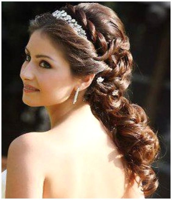 wedding hairstyles for long hair to the side XWtf4Dtd