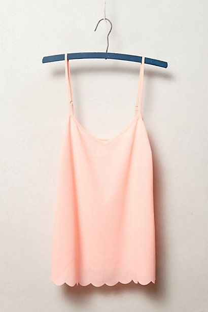 "Scalloped Cami at Anthropologie ""Trend Report - Ballet Beautiful"" July 4/2014 #fashion #ballet Hey! I have this in white ;D"