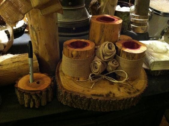 Unity sand holder and guest sign in pen holder by SawmillCreations, $40.00