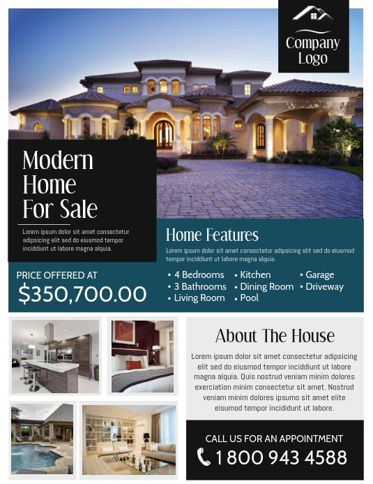 Real Estate Flyer Real Estate Modern Homes For Sale House Prices