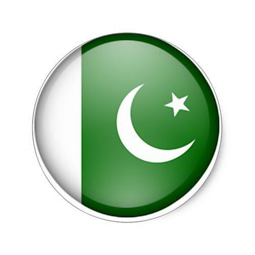 Pakistan Flag Circle Classic Round Sticker Pakistan Flag Pakistan Independence Day Pakistani Flag