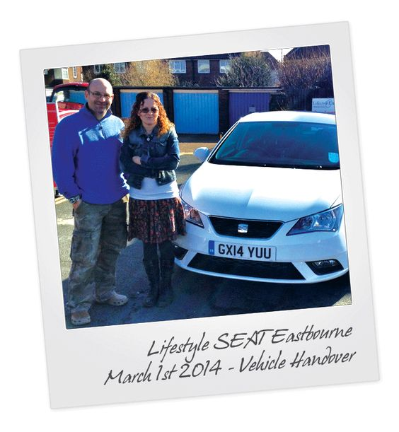 SEAT Leon Vehicle Handover at Eastbourne SEAT in East Sussex