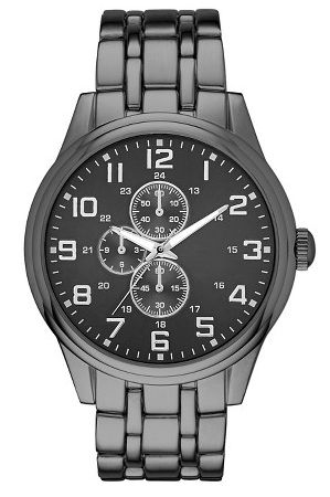 dark grey men's watch