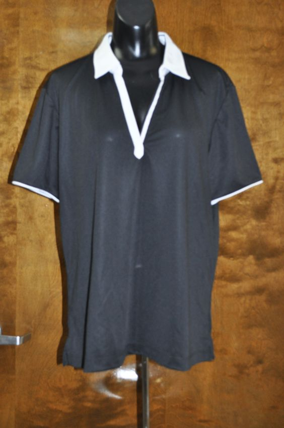 Contrast Collar Short Sleeve Shirt