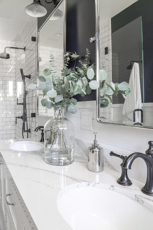 Oil Rubbed Bronze Vintage Style Faucets Are Fitted To A Calcutta