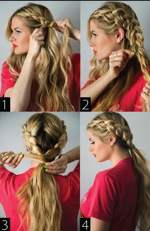 45 Cute Different Braids Tutorials That Are Perfect For Any Occasion Summer Braids Braids For Long Hair Hair Styles Dutch Braid Ponytail